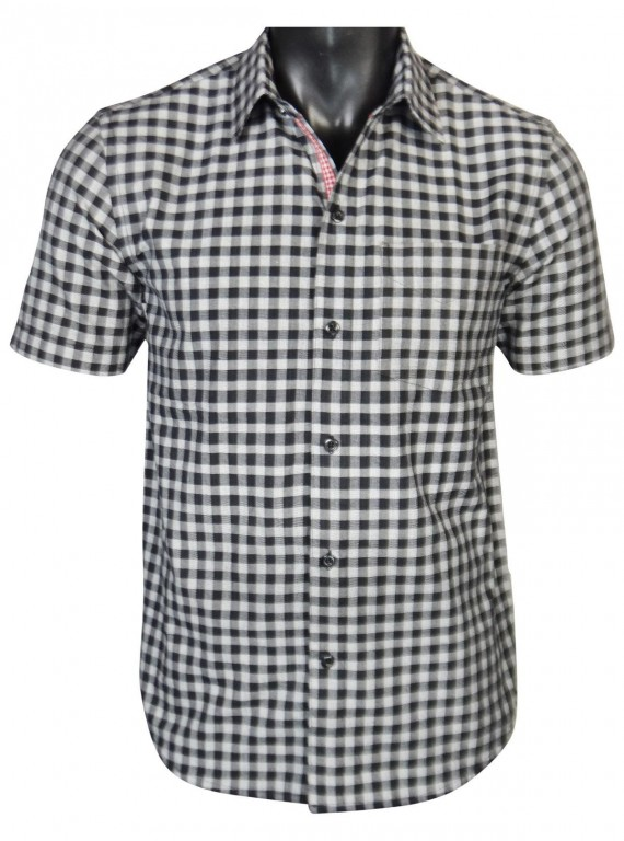 Regular Fit - Black Checkered Shirt