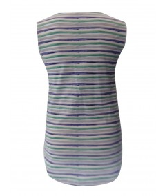 Blur Stripe Printed Sleeveless Top