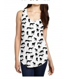 Deer AOP Womens Sleeveless