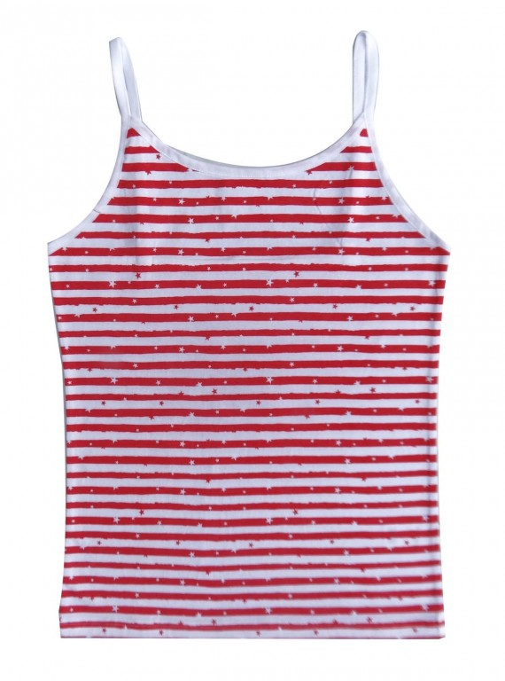 Red Stripped Cami Top