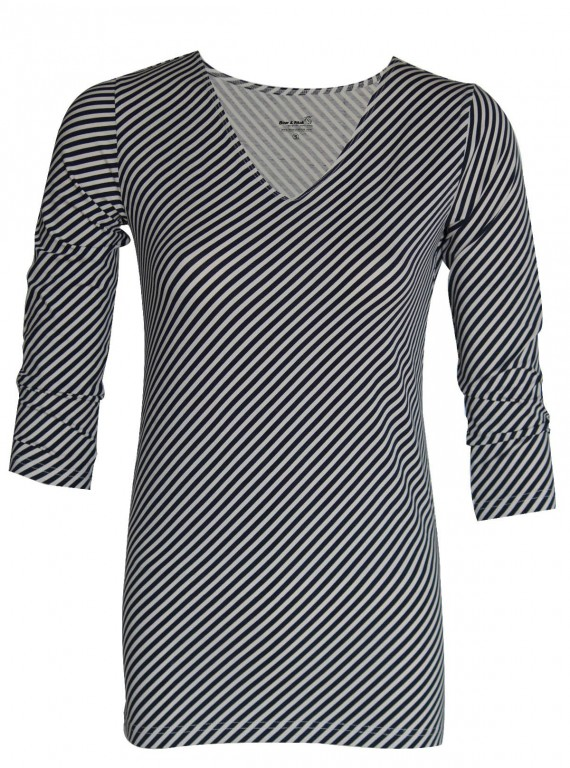 Cross Stripe Womens Top