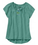 Green Pleated Womens Top