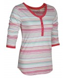 Coral Stripe Womens Top