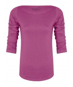 Dark Fushia Solid Womens Top