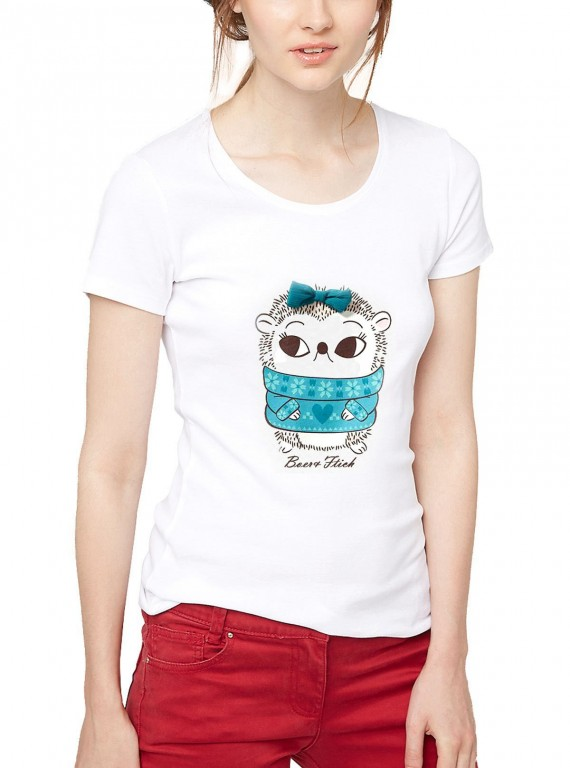 White Doll Printed Womens TShirt