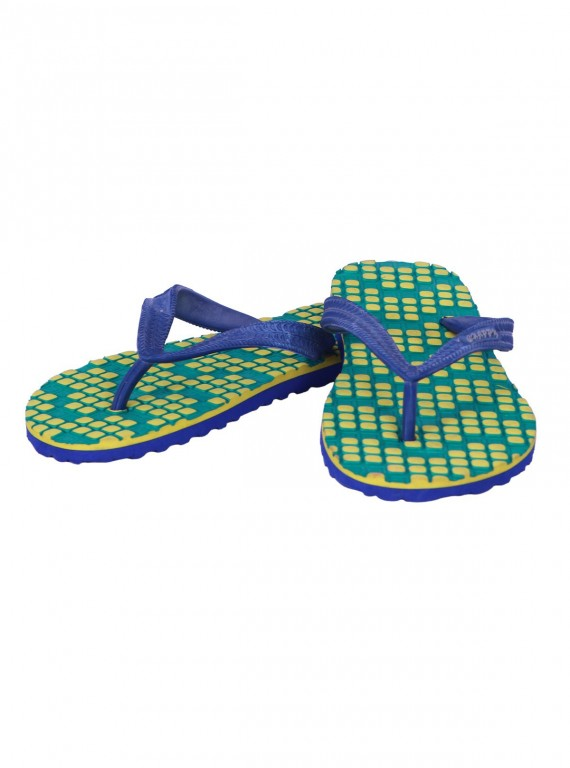 Yellow Squared Flip Flop