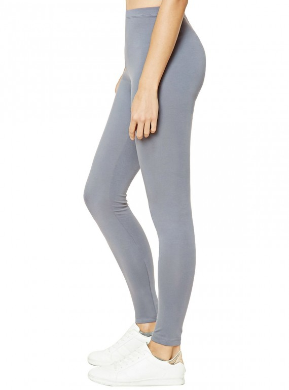 B & F Womens Grey Cotton Elastane Legging
