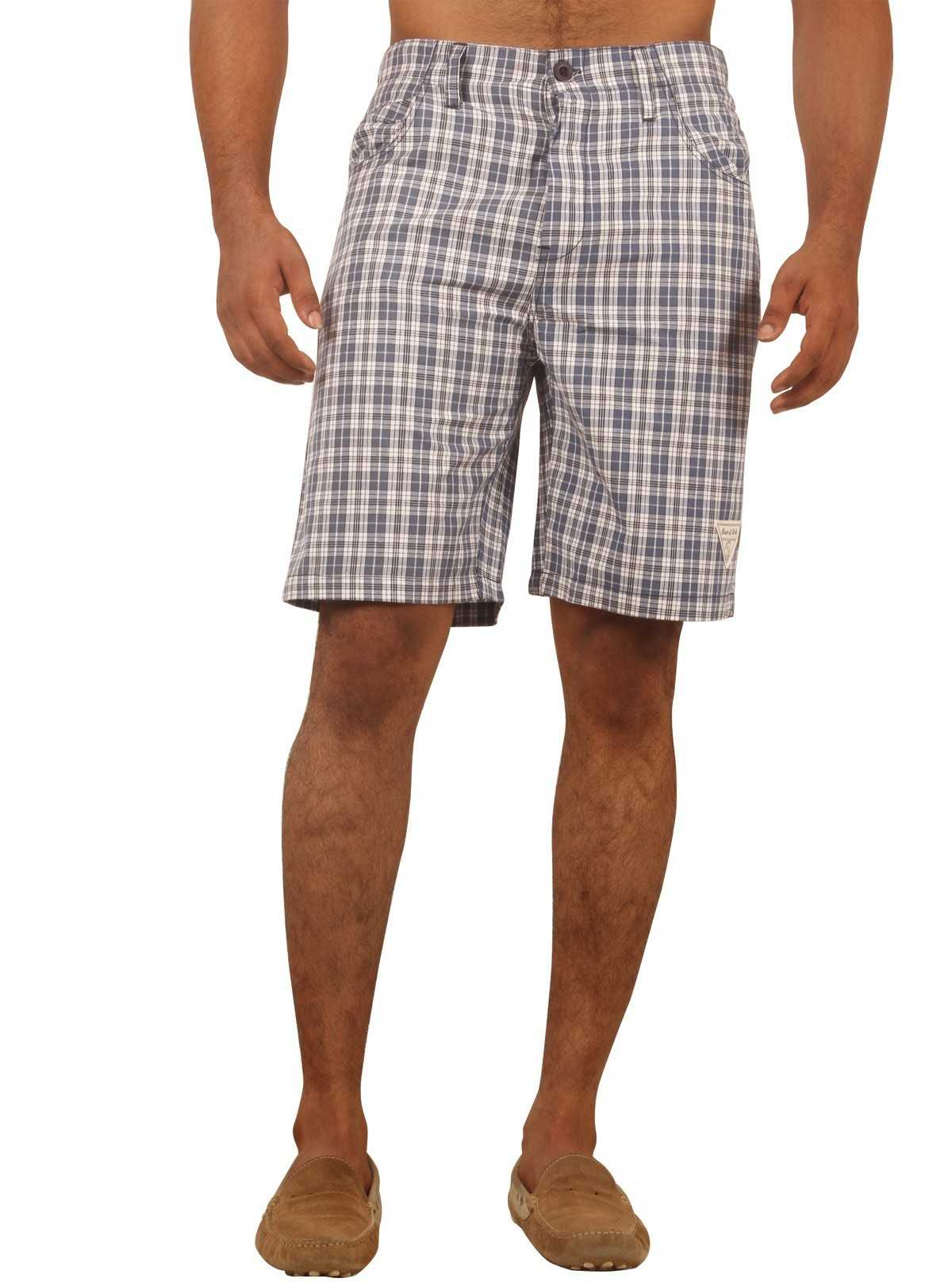 Blue Creep Check Shorts