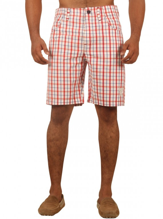 Red Checked Shorts