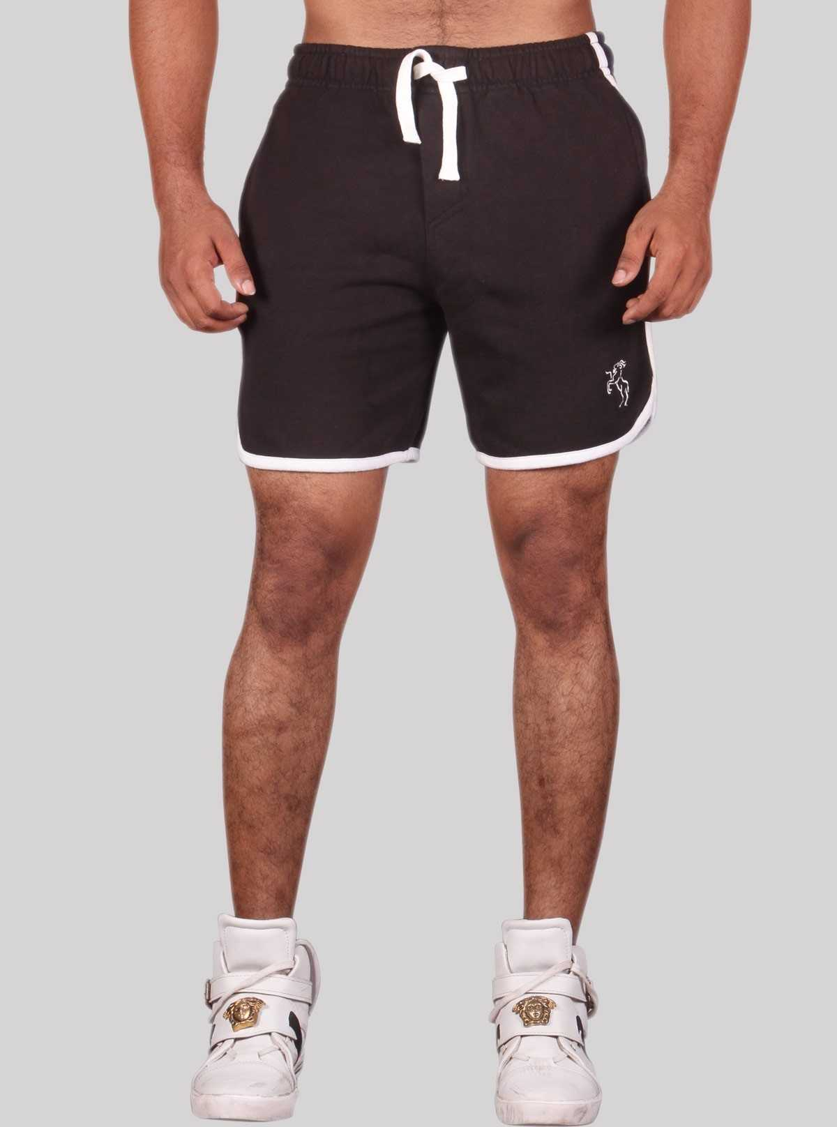 Black Boxer Fleece Shorts
