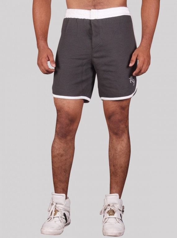 White Band Fleece Shorts