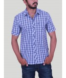 Checked Blue casual Shirt