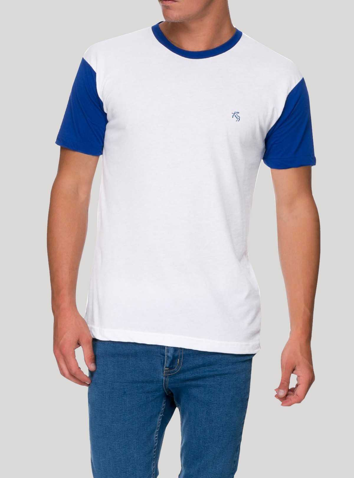 Mens Contrast Sleeve TShirt - White