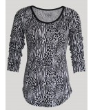 Animal Print Womens Top