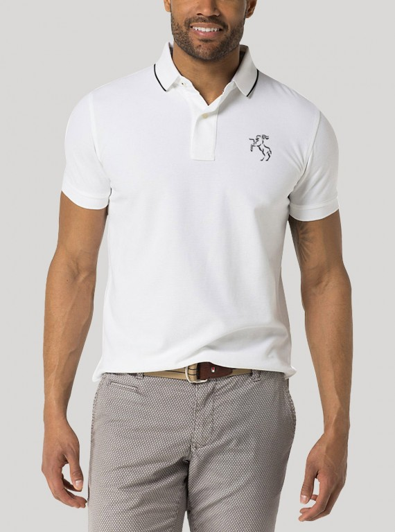 White Tipping collar Polo TShirt