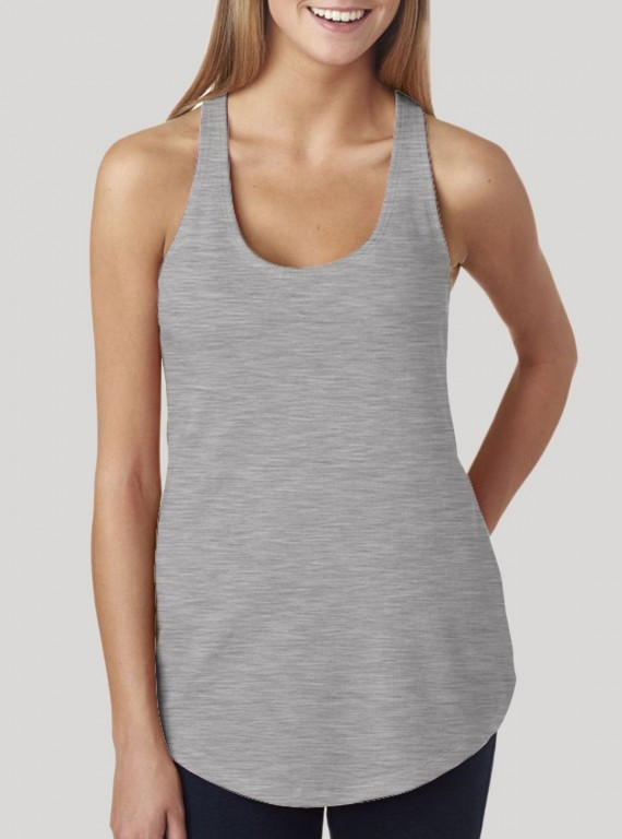 Womens Sleeveless Top - Grey Melange