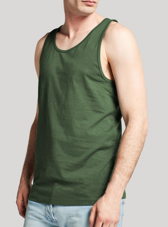 Solid Tank Top - green