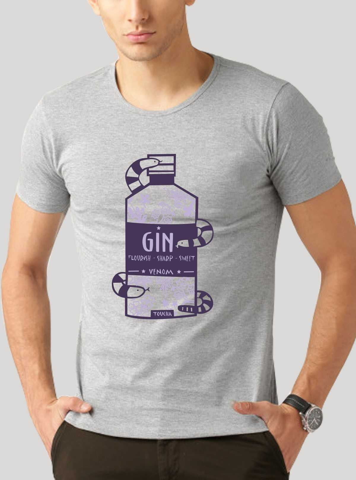 Purple GIN Printed T-Shirt