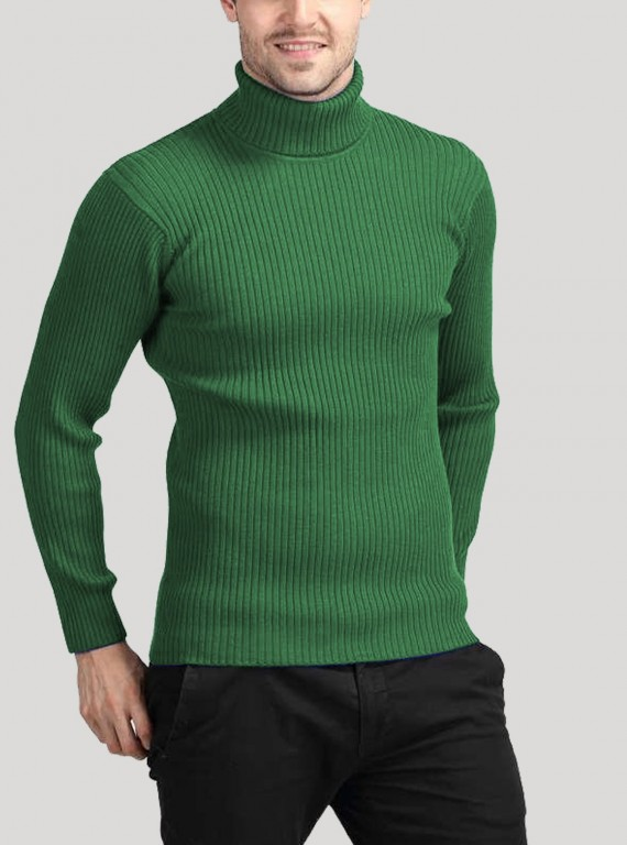 Green Turtle Neck Sweat Shirt
