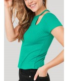 Green Durby Knit Top