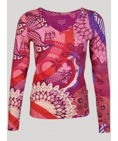 Long Sleeve Oasis Printed Top