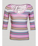 Pink Stripped Women Top