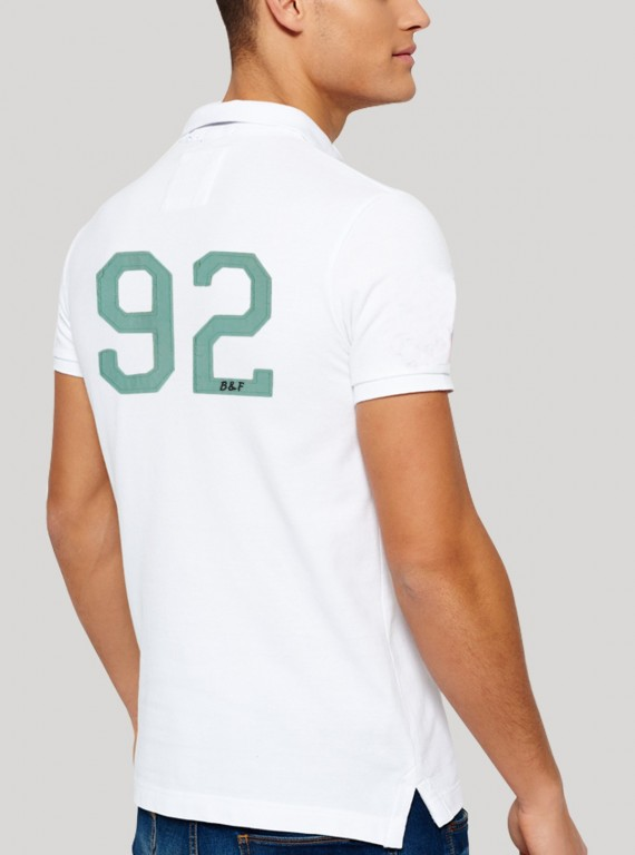 White Sporty Polo TShirt