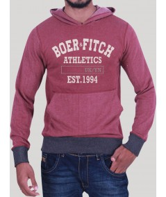 Burgundy Hooded Sweat Shirt