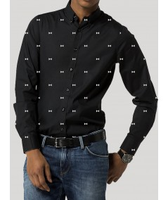 Black Shirt with Print