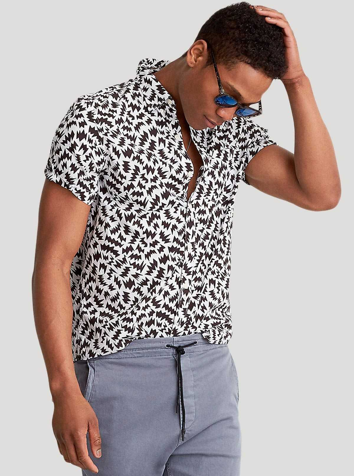 Black Graphic Printed Shirt