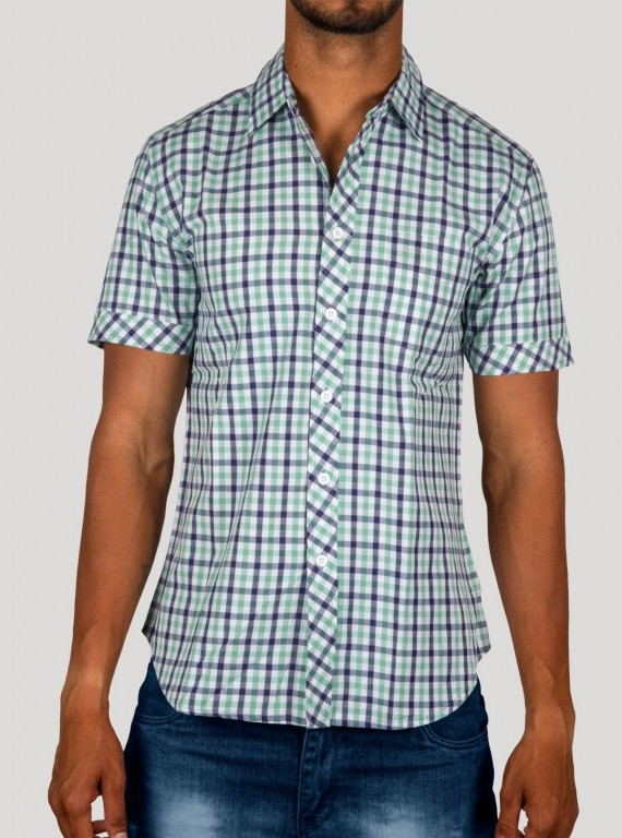 Soft Green checkered Shirt