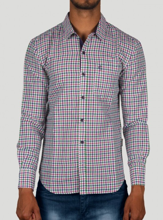 Slim Fit - Full Sleeve Linen Multi Check Shirt