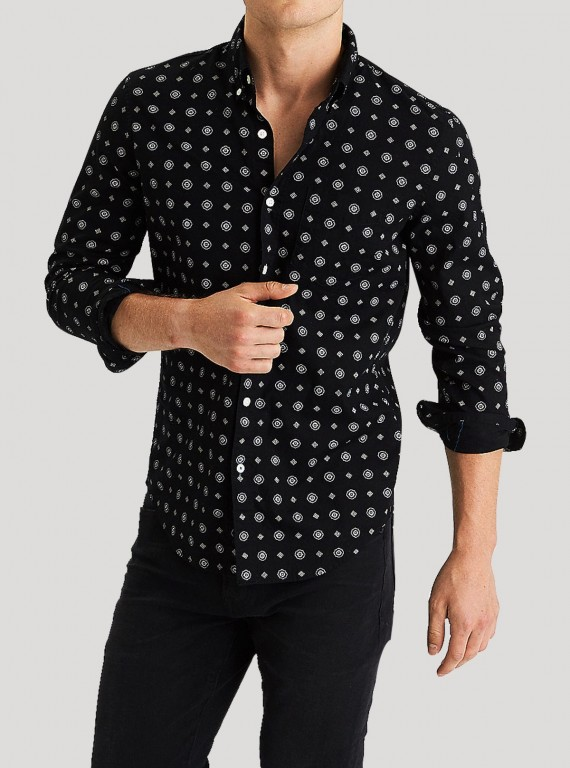 be01e3eda2c Printed Shirts for Men – Boer and Fitch - Boer and Fitch. Black Seaway Print  Shirt. Cocorico Print Black Slim Fit Printed Shirt - Zodiac Online