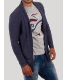 Navy Cardigan with TShirt