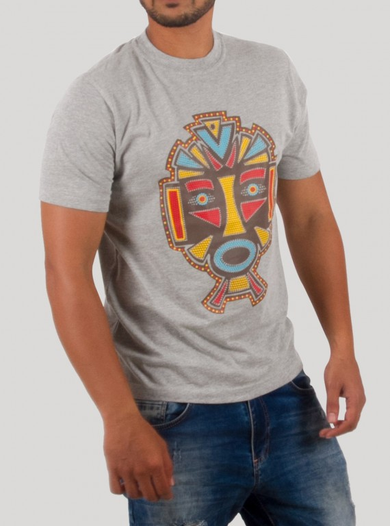 FaceMask Printed T Shirt