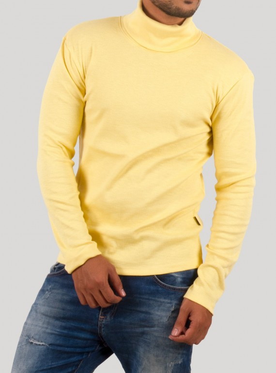 Yellow Turtle Neck Sweat Shirt