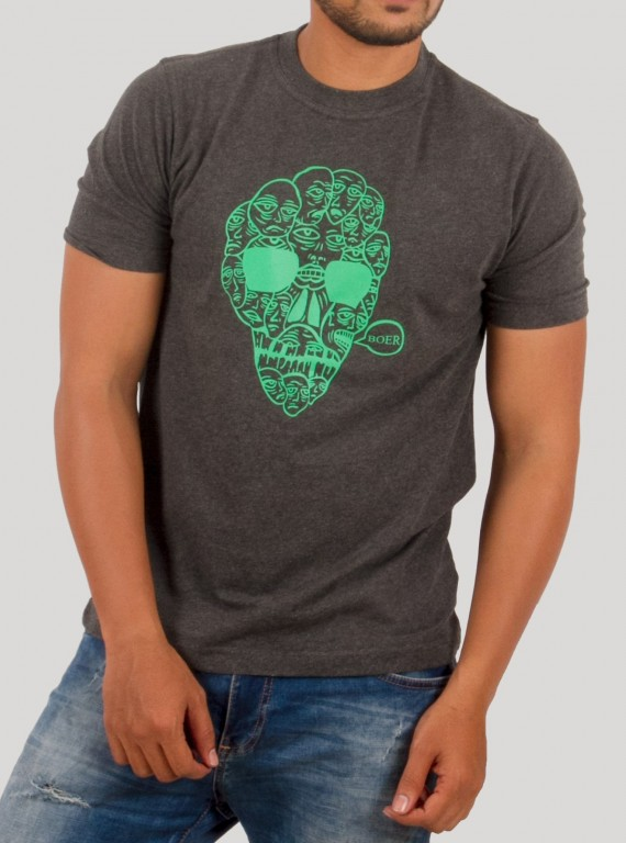 Multi Head Skull Print T-Shirt