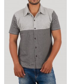 Clear Stripe Polo TShirt