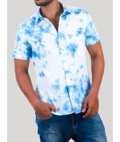 Blue Tie and Dye Shirt