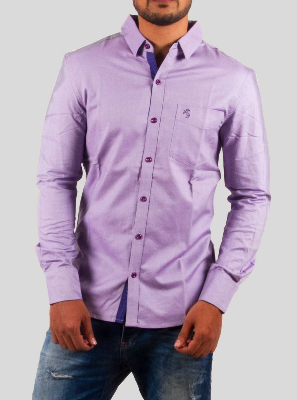 Long Sleeve Purple Shirt
