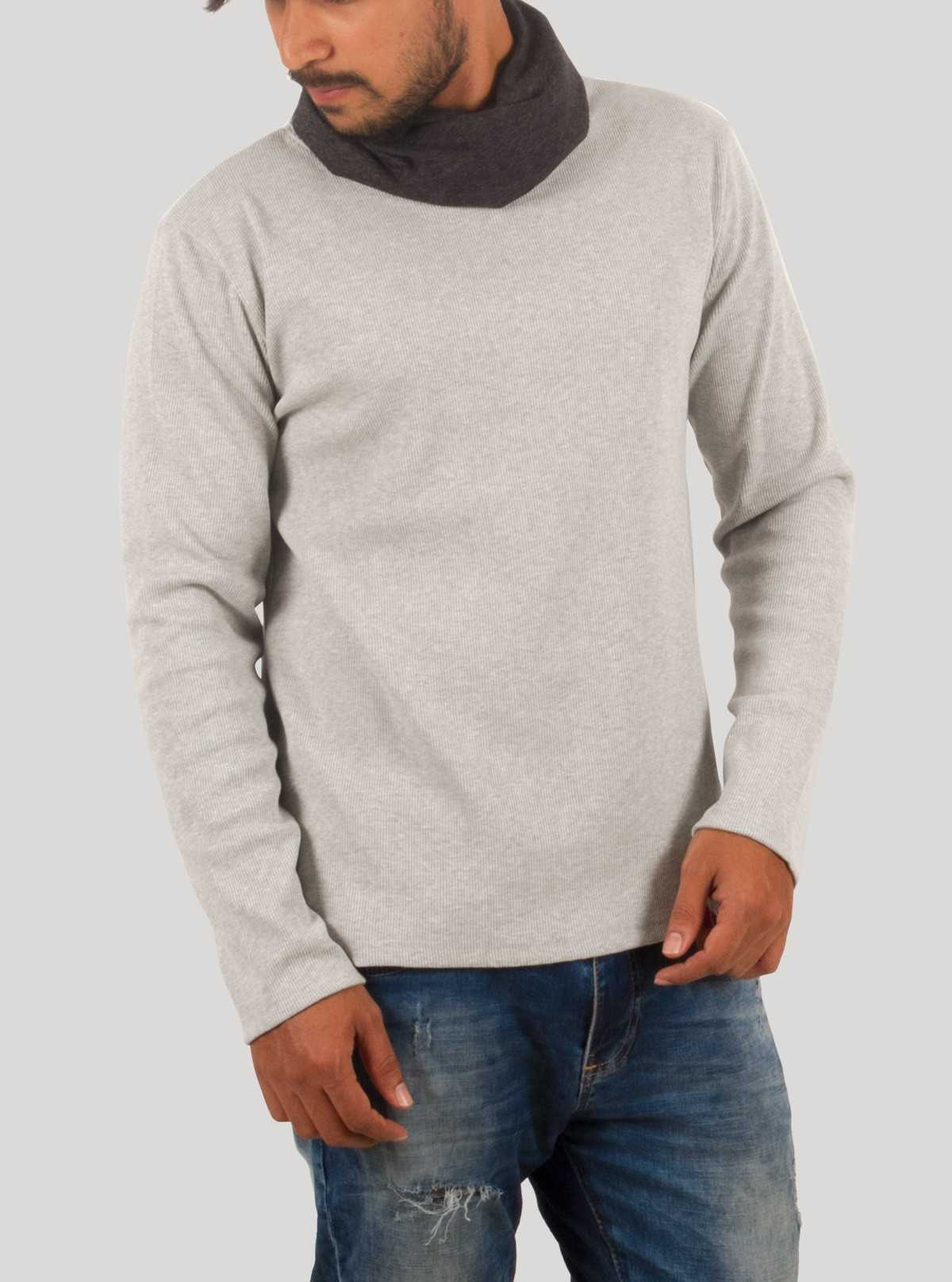 Melange Roll Neck TShirt