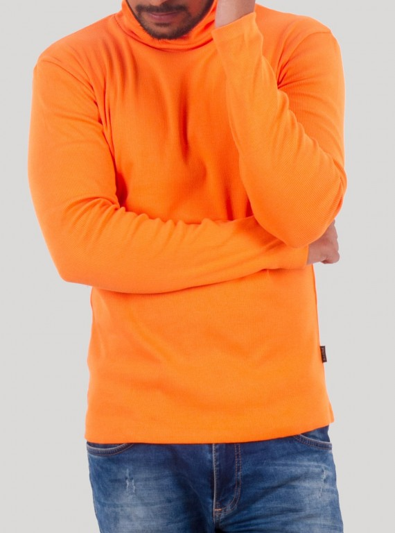 Salmon Turtle Neck Sweat Shirt