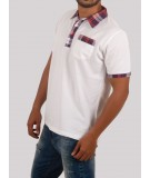 Purple Drill Collar Polo TShirt