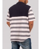 Navy Stripe Polo TShirt