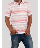 Smart Pink Stripped Polo TSHirt