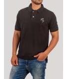 Black Sporty Polo TShirt