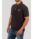 Black Embroidery Polo Tshirt