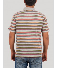 Melange Multi Stripe Polo TSHirt