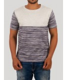 Ecru Pin Stripe Crew Neck TShirt