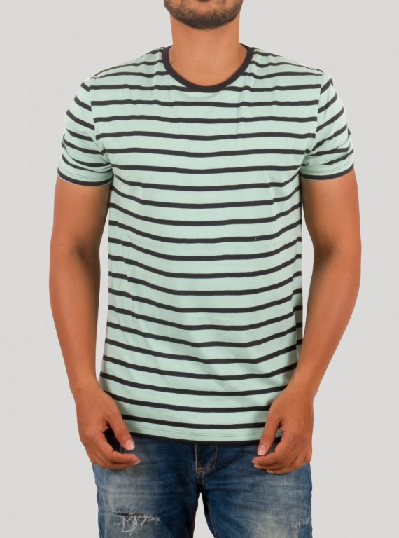 Sky Blue Stripped TShirt